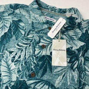 Tommy Bahama Big Tall Green Floral Hawaiian Shirt